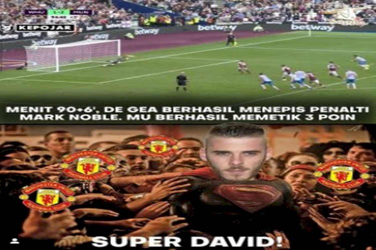 5 Meme Kemenangan MU atas West Ham, Pahlawannya De Gea atau Lingard - Foto 3