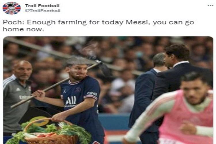 Lagi Nih, 5 Meme Kocak Messi Belum Ngegolin di PSG - Foto 2