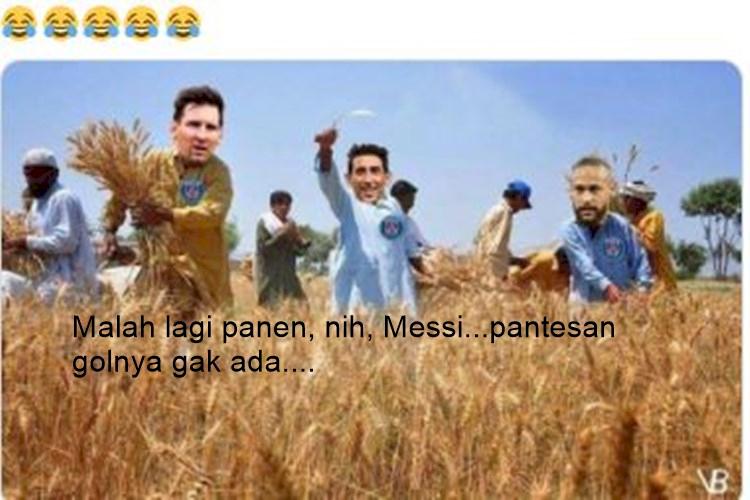Lagi Nih, 5 Meme Kocak Messi Belum Ngegolin di PSG - Foto 1