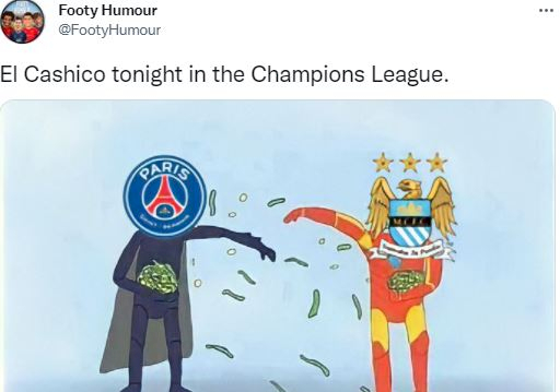 5 Meme Kocak PSG vs Manchester City, Laga El Cashico - Foto 4