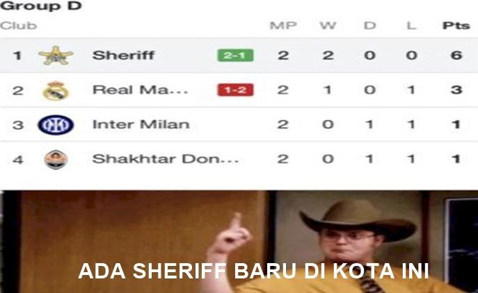5 Meme Kocak Kemenangan Sheriff atas Real Madrid di Liga Champions - Foto 5