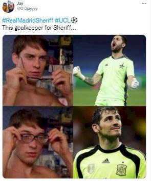 5 Meme Kocak Kemenangan Sheriff atas Real Madrid di Liga Champions - Foto 3