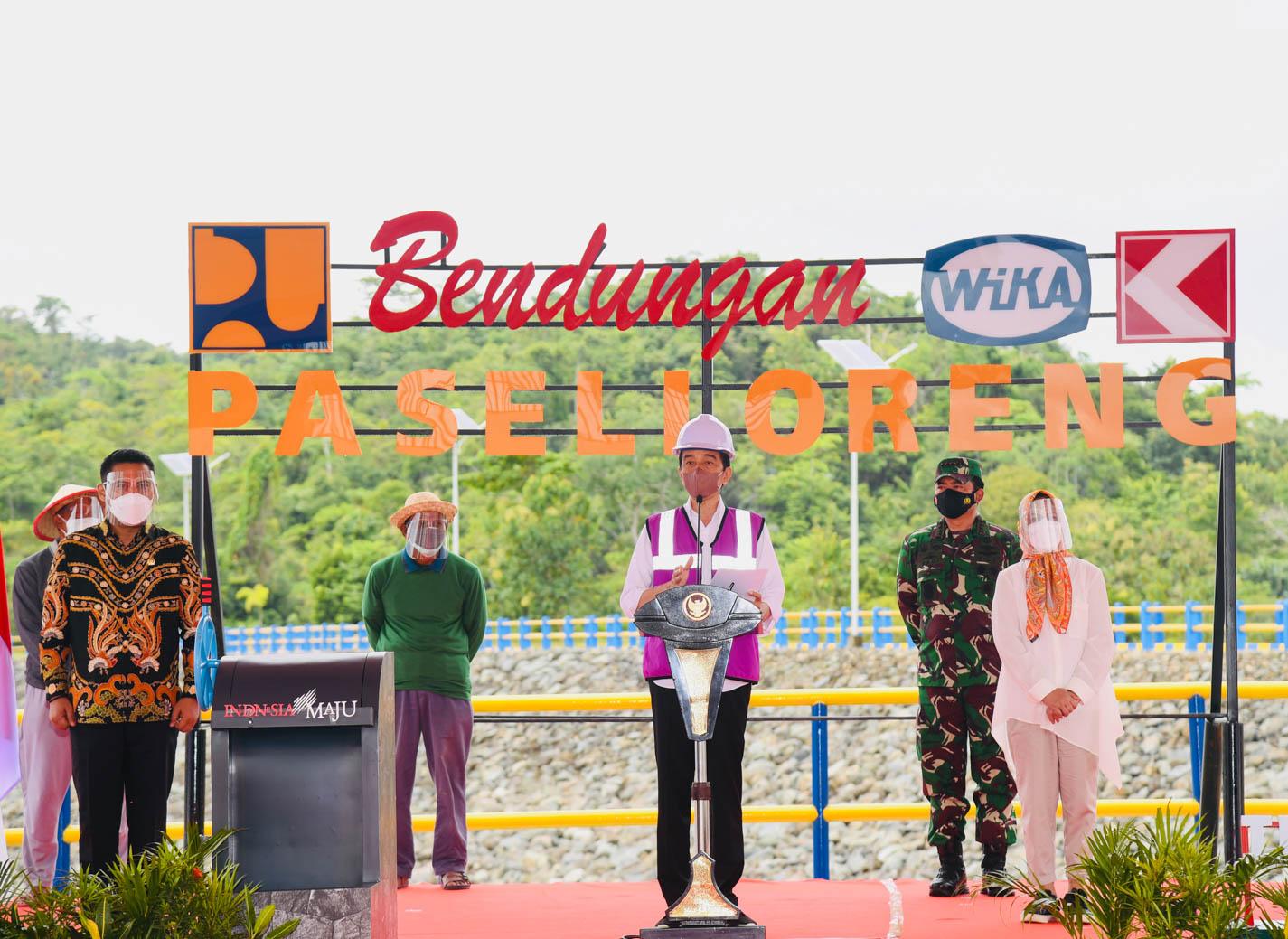 Presiden Jokowi Resmikan Bendungan Paselloreng Seluas 1.258 Hektare