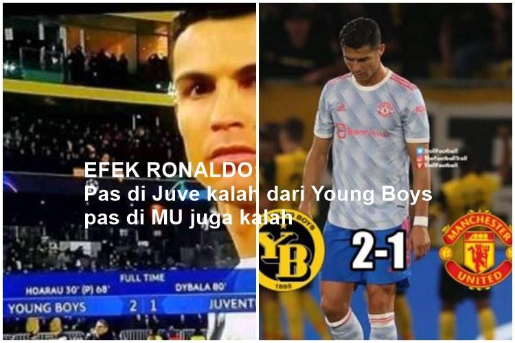 5 Meme Lucu MU Kalah dari Young Boys, Efek Ada Ronaldo