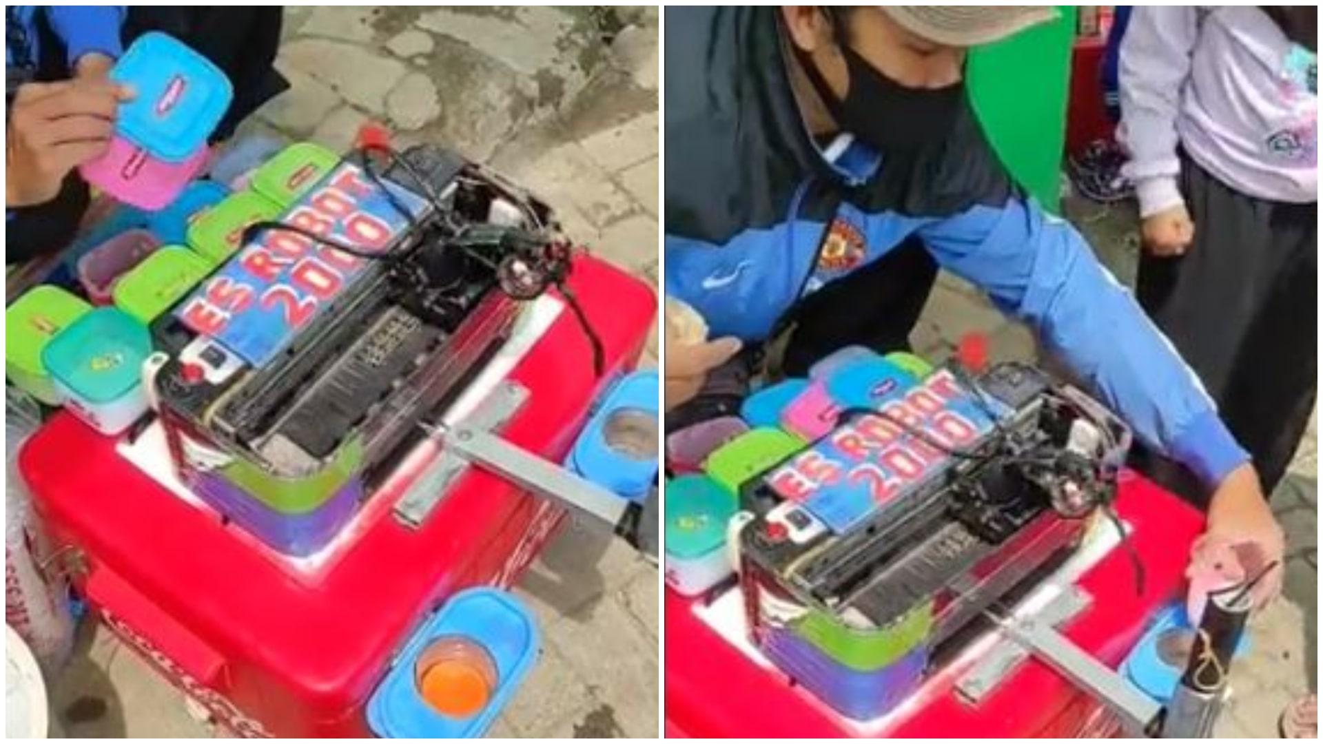 Viral Canggihnya Mesin Es Robot, Warganet: UMKM Bukit Algoritma