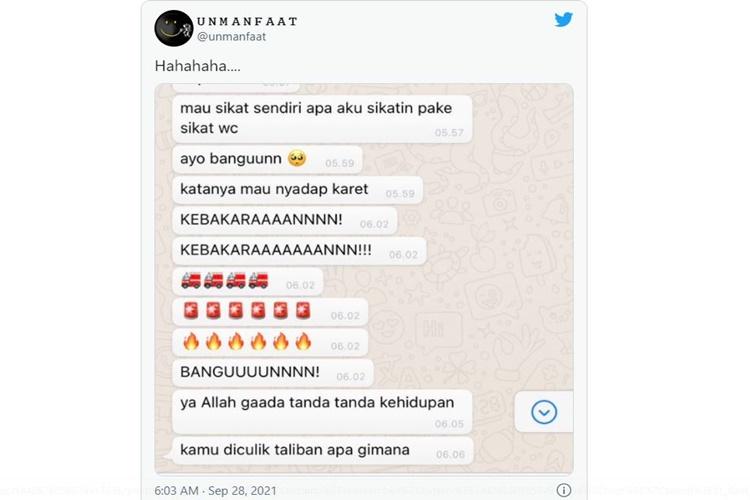 Chat Bangunin Gebetan Ini Bikin Ketawa Ngakak, Kamu Ngalamin?