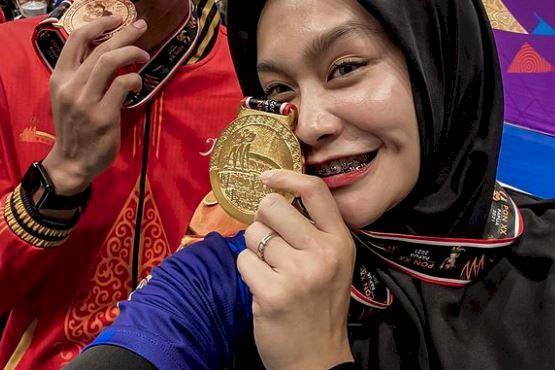 5 Potret Menawan Wilda Nurfadhilah, Pevoli Nasional yang Menangi 3 Emas PON - Foto 1