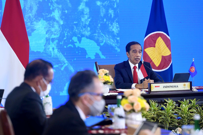 Digelar Secara Virtula Presiden Jokowi Hadiri KTT ASEAN KE-38