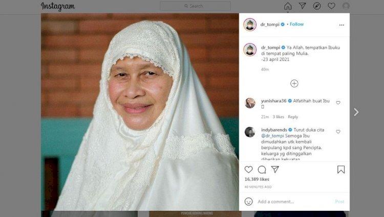 Kabar Duka, Ibunda Tompi Meninggal Dunia - Foto 1