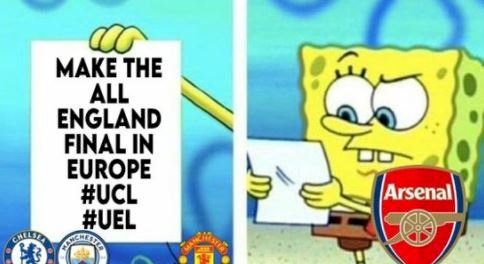7 Meme Kocak Arsenal Tersingkir dari Liga Europa, Gooners Makin Kasihan - Foto 6