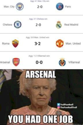 7 Meme Kocak Arsenal Tersingkir dari Liga Europa, Gooners Makin Kasihan - Foto 7