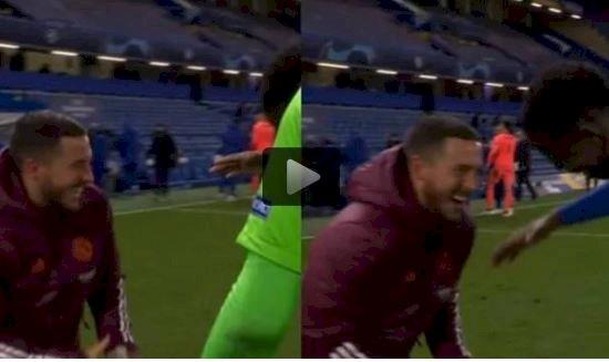 Potretnya Tertawa Gembira Viral Usai Laga Madrid vs Chelsea, Ini yang Disampaikan Hazard - Foto 1