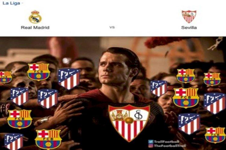 5 Meme Lucu Madrid, Barca dan Atletico Terima Kasih ke Sevilla - Foto 2