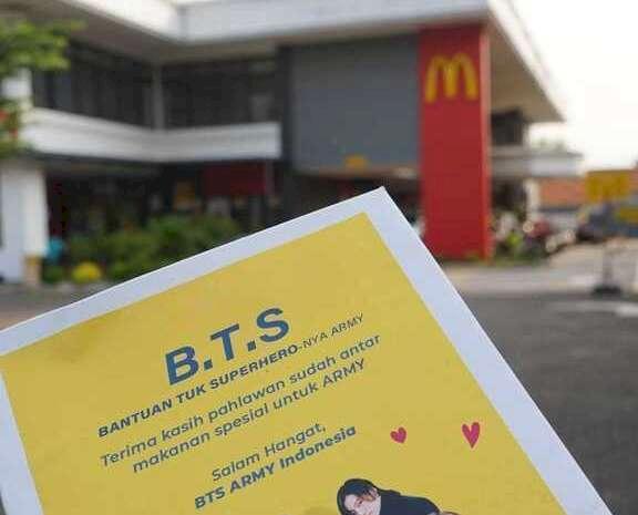 Heboh BTS Meal, Army Indonesia Berhasil Galang Dana Lebih dari Rp100 Juta Untuk Driver Ojol - Foto 5