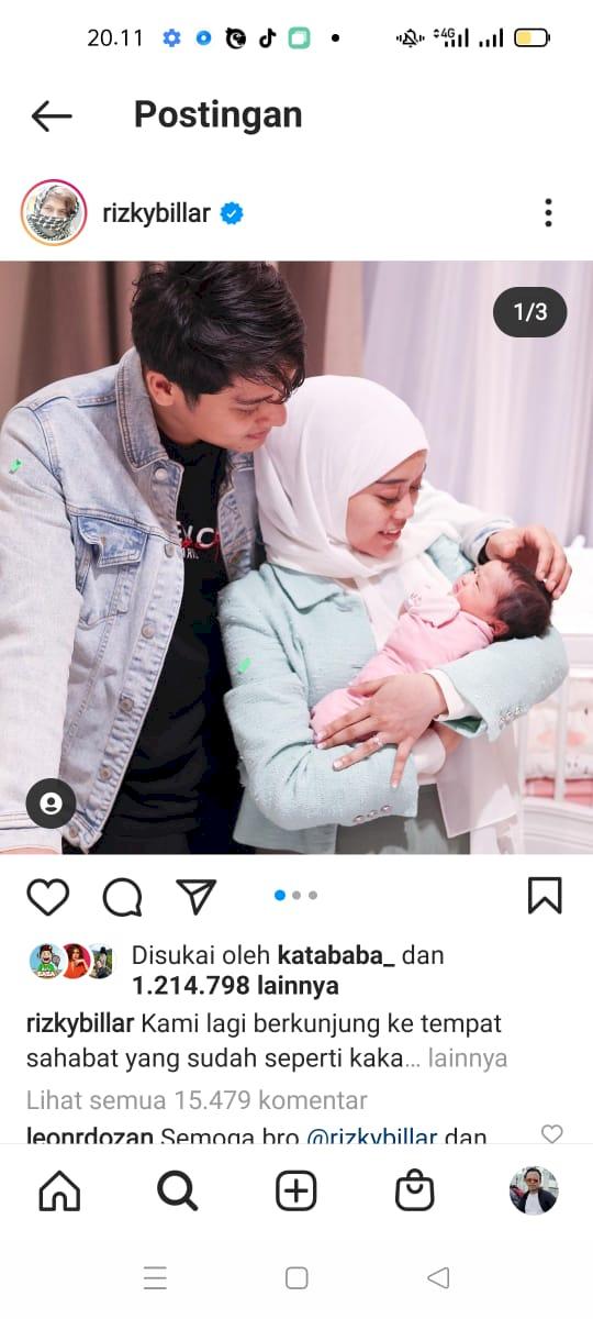 Belum Menikah, Rizky Billar dan Lesti Kejora Sudah Perlihatkan Momen Gendong Bayi - Foto 1