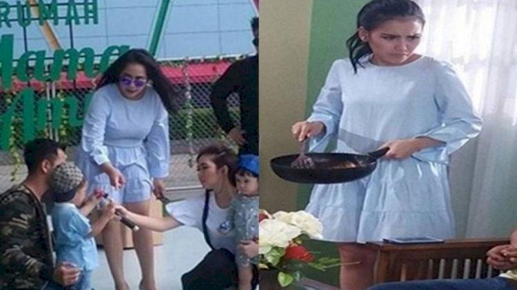 5 Momen Ayu Ting Ting dan Nagita Slavina Kenakan Outfit Kembaran - Foto 3