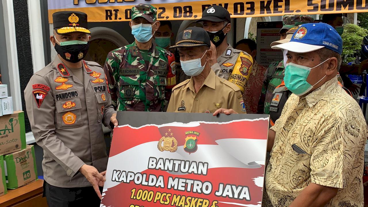 Wakapolda Metro Jaya Kunjungi Wilayah Zona Merah COVID-19, Ngapain?