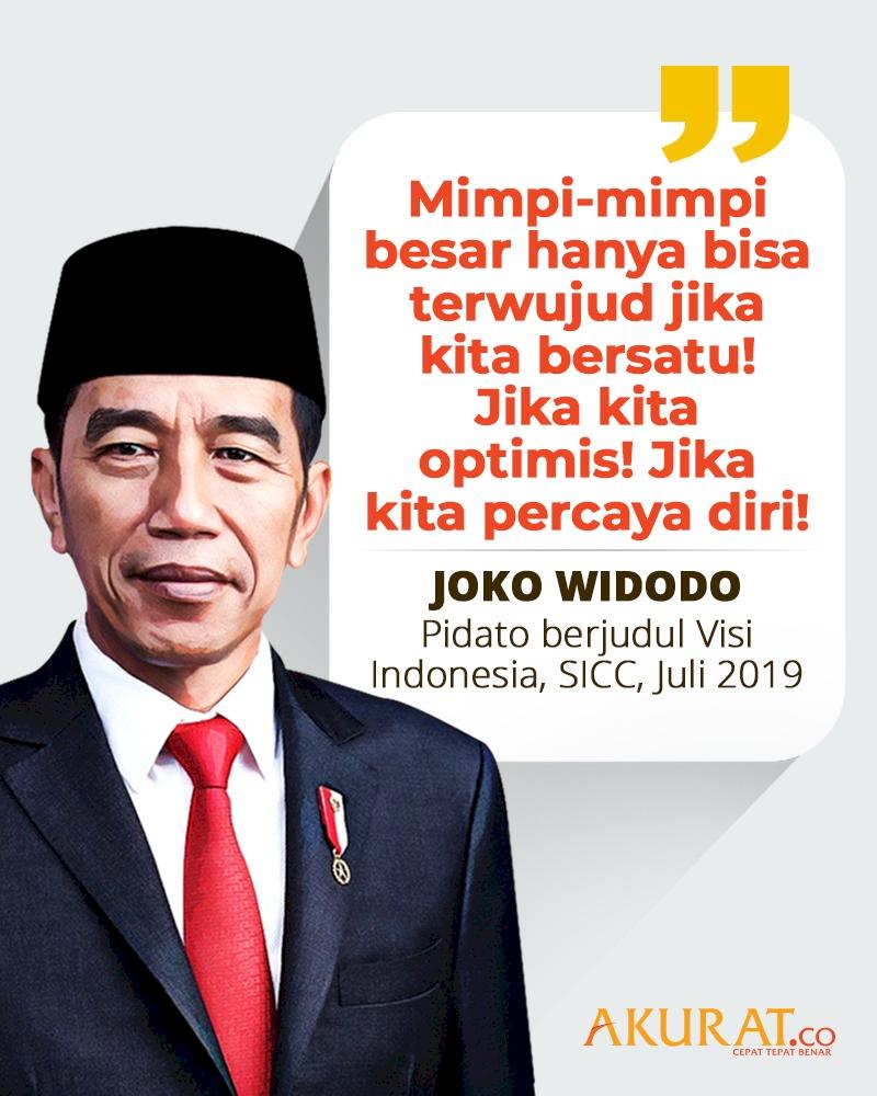 Kutipan Joko Widodo, Pidato Berjudul Visi Indonesia, SICC, Juli 2019