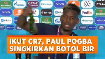Setelah Ronaldo Geser Coca-Cola, Kini Giliran Paul Pogba Singkirkan Botol Bir