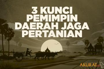 3 Kunci Pemimpin Daerah Jaga Pertanian