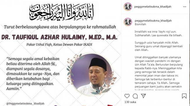 Peggy Melati Sukma Umumkan Ustaz Taufiqul Azhar Hulaimy Tutup Usia - Foto 1