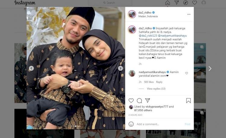 Alhamdulillah, Rizky DA dan Nadya Mustika Sudah Rujuk - Foto 1