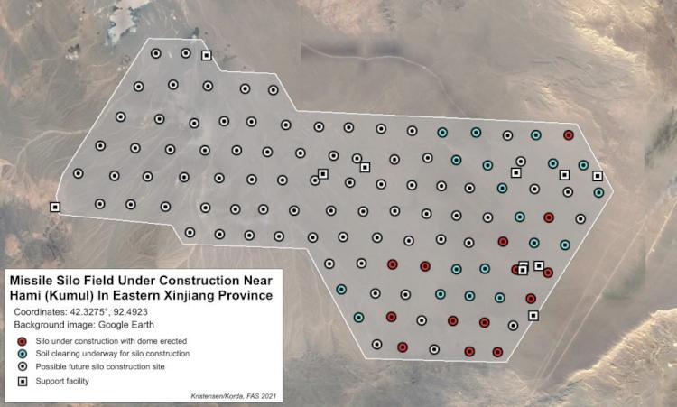 Tandingi AS dan Rusia, China Ketahuan Bangun 110 Fasilitas Rudal Nuklir di Gurun Terpencil - Foto 1