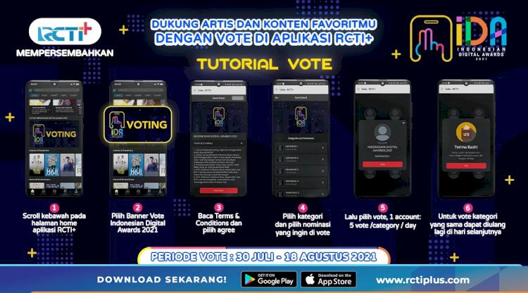 Dukung Artis dan Konten Favorit di Indonesian Digital Awards 2021 Lewat Aplikasi RCTI, Ini Daftar Nominasinya - Foto 1