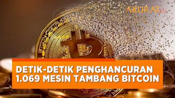 Detik-detik 1.069 Mesin Panambang Bitcoin Bitcoin Ilegal Dihancurkan