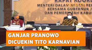 Momen Kocak Ganjar Dicuekin Mendagri Tito Karnavian, Dikira Abang None Kendal