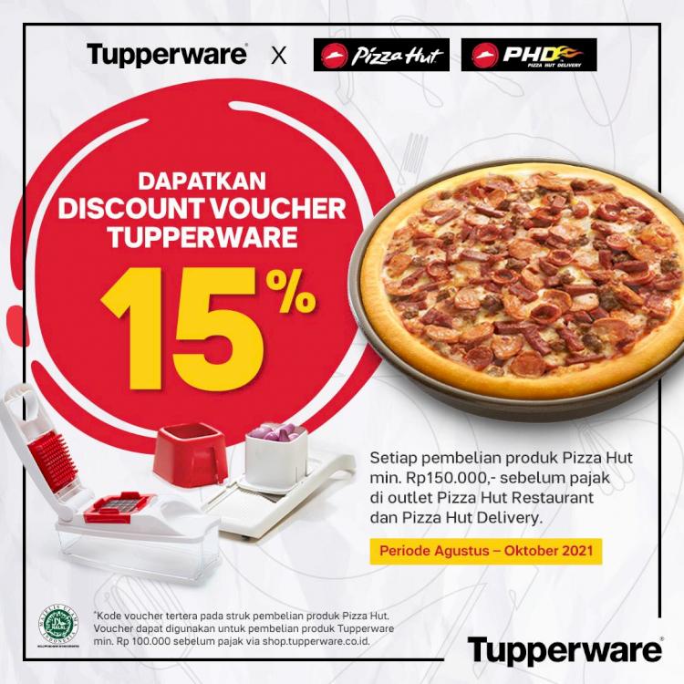 Bagi-bagi Promo, Tupperware dan Pizza Hut Indonesia Kompak Manjakan Konsumen - Foto 1
