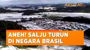 Aneh! Salju Turun di Brasil untuk Pertama Kalinya, Warga Girang Sekaligus Takut