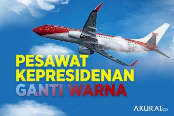 Pesawat Kepresidenan Ganti Warna