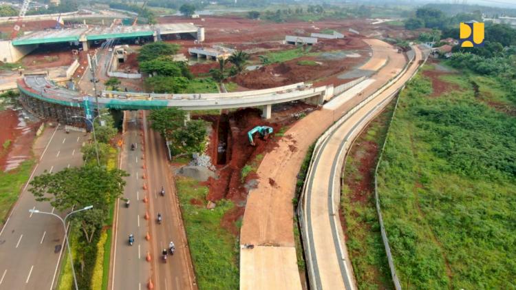 Konstruksi Tol Serpong-Balaraja Seksi 1 Paket 2 dan 3 Rampung Akhir 2021 - Foto 1