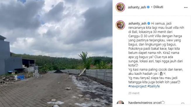 Ada Aliran Sungai, Ashanty Bakal Bangun 30 Unit Villa di Bali - Foto 1