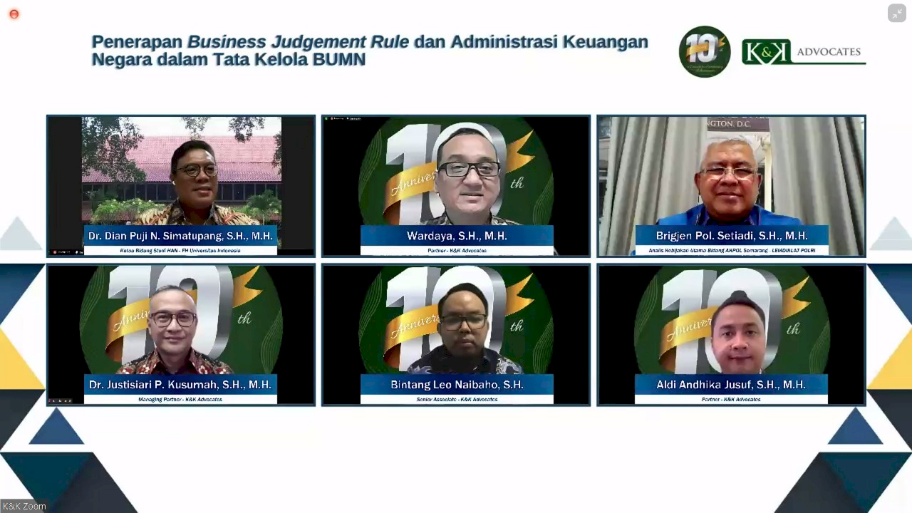 Yuk Mengenal Pentingnya Penerapan Business Judgement Rule dan Administrasi Keuangan Negara dalam Tata Kelola BUMN