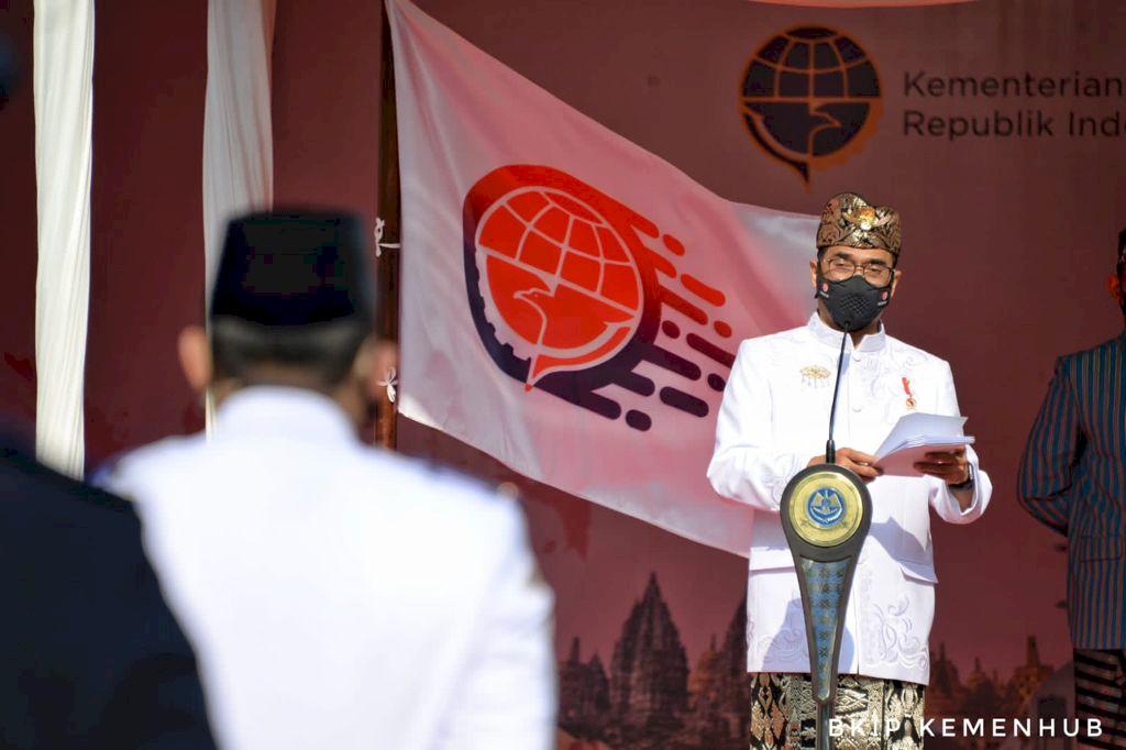 Menhub Ajak Insan Perhubungan Terus Bergerak Hamonikan Indonesia di Hari Perhubungan Nasional 2021