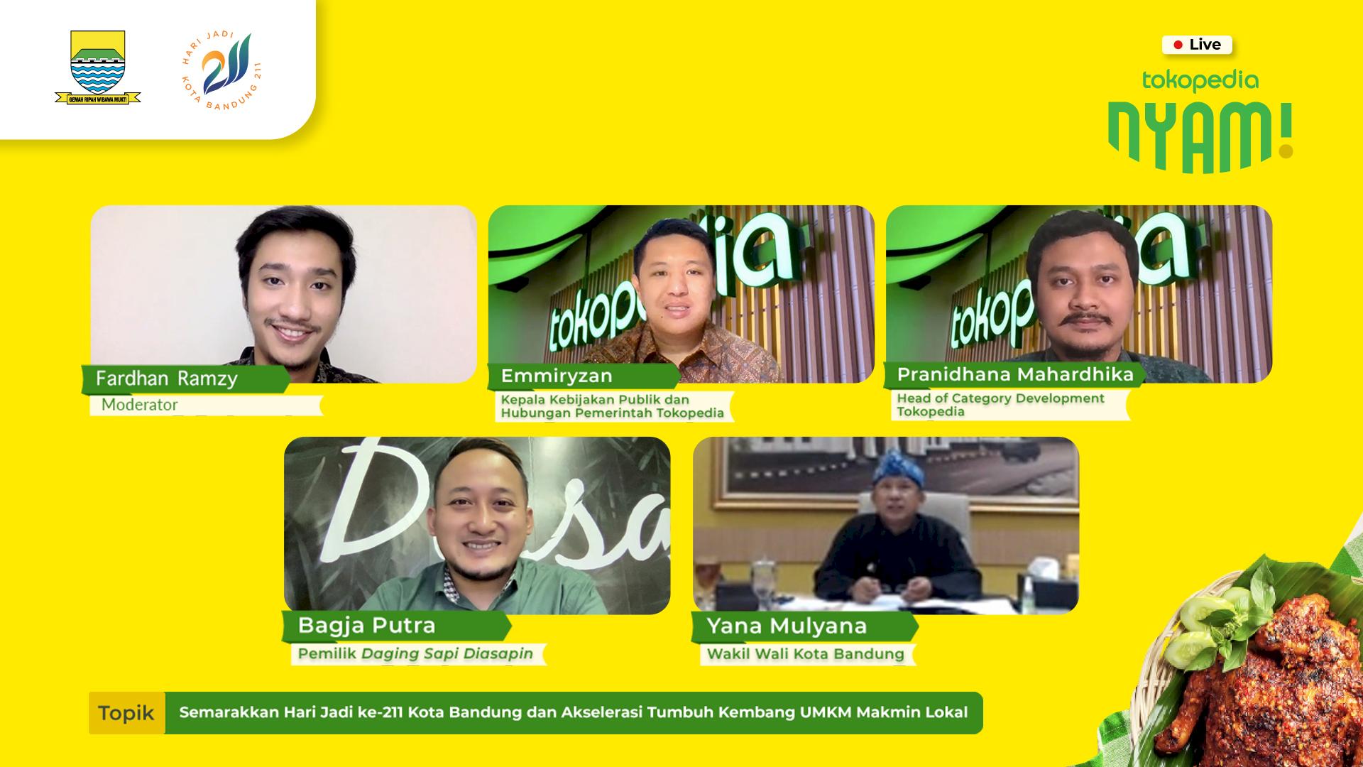 Semarakkan HUT ke-211 Kota Bandung, Tokopedia Bantu UMKM Makmin Dongkrak Penjualan lewat Tokopedia Nyam Bandung