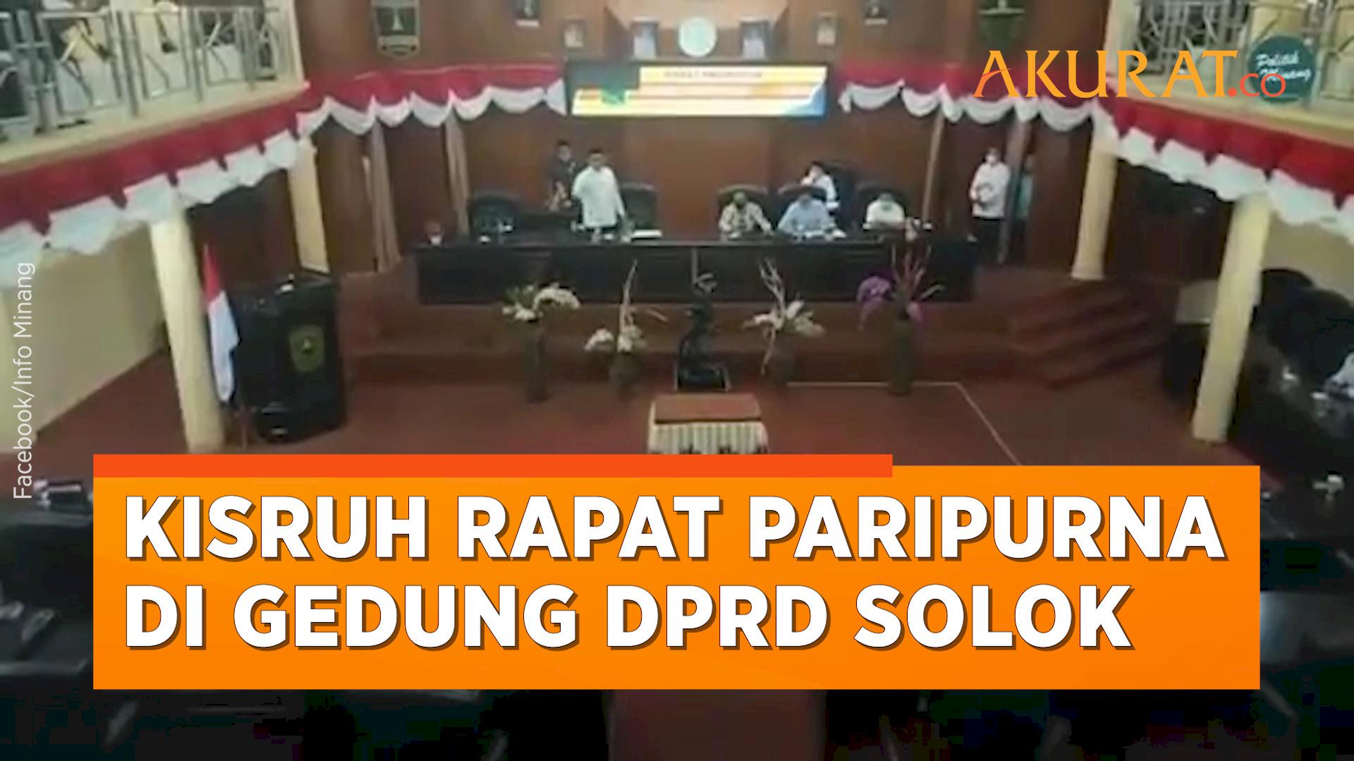 Ini Penyebab Cekcok Rapat Paripurna DPRD dan Bupati Solok