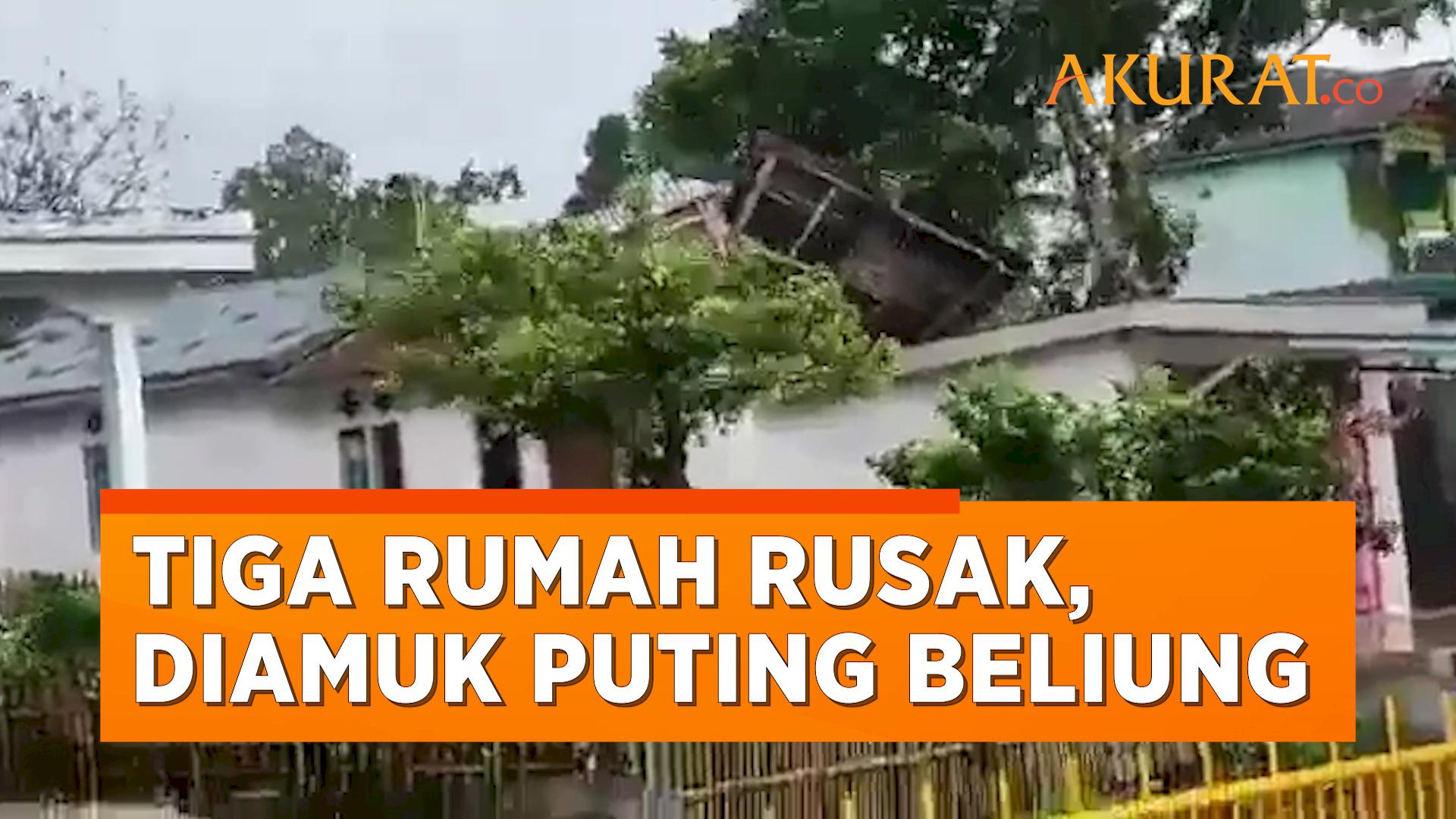 Penampakan Angin Puting Beliung yang Merusak Tiga Rumah di Bengkulu