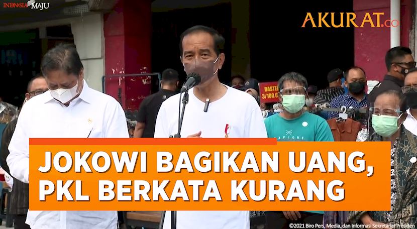 Jokowi Bagikan Uang Rp1,2 Juta, Pedagang Malioboro: Kurang Pak!