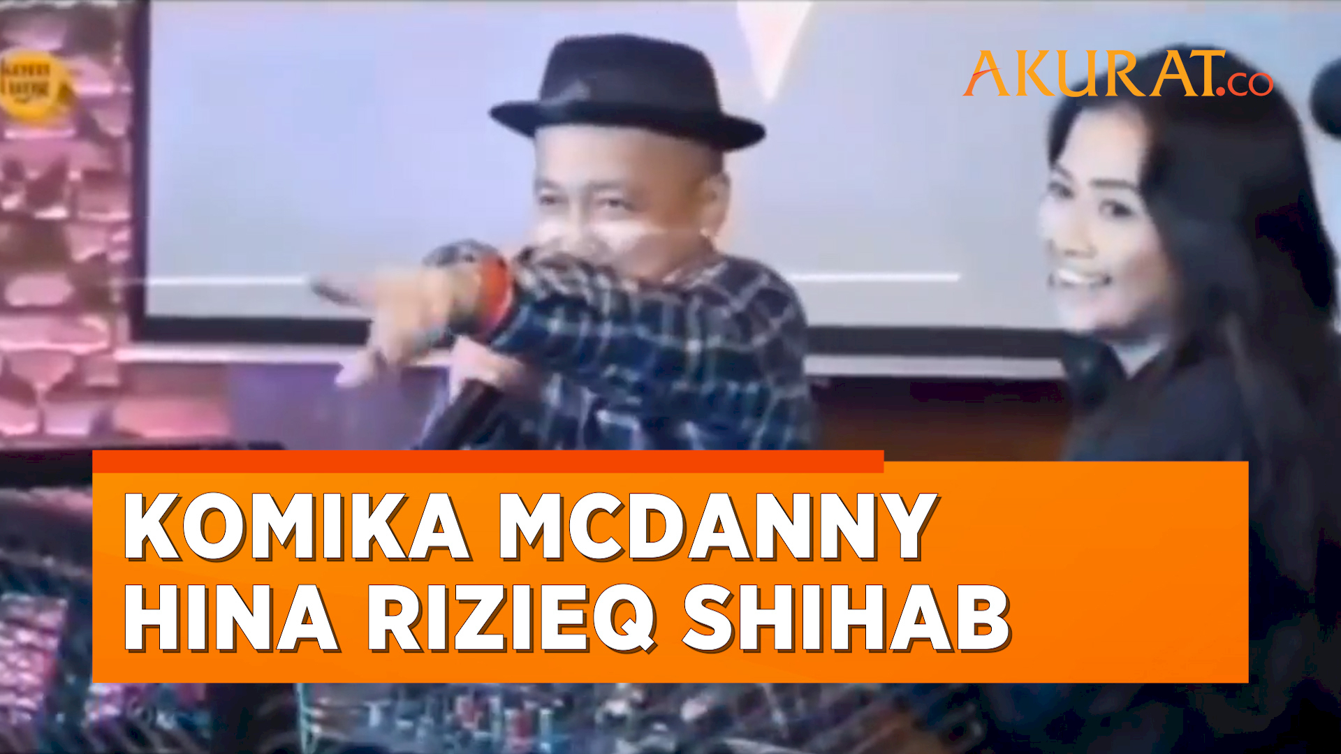 Hampir Menangis, Komika McDanny Minta Maaf Usai Kedapatan Hina Rizieq Shihab