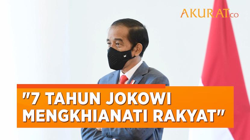 Peringati 7 Tahun Kepemimpinan Jokowi, BEM SI Geruduk Istana