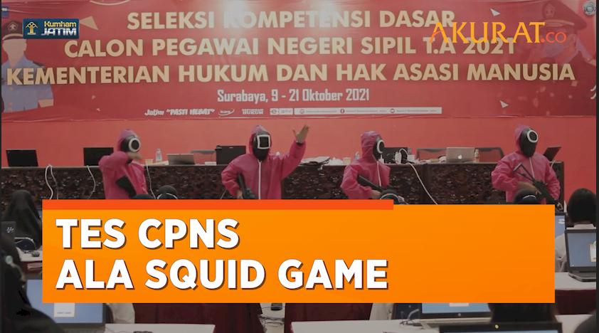 Tes CPNS di Jawa Timur Bernuansa Squid Game, Publik: Norak!