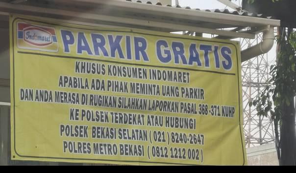 Minimarket di Bekasi Bikin Kebijakan Parkir Gratis, Ternyata Didukung Polisi
